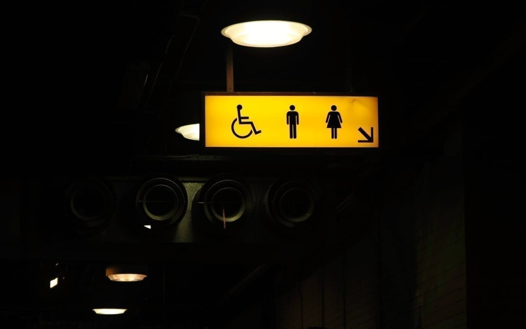Public Toilet with Wheel Chair